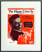 The House I Live in Framed Sheet Music