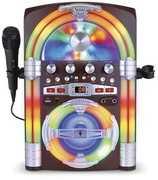Singing Machine SML645BT Jukebox Bluetooth Karaoke Speaker WirelessMicrophone and LED Light effect