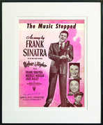 The Music Stopped Framed Sheet Music