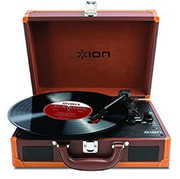 ION IT45DXB Vinyl Motion Deluxe Brown Suitcase Turntable