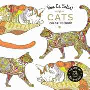 Vive Le Color! Cats Adult Coloring Book: Color In; De-Stress