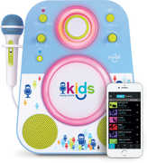 Singing Machine Kids SMK250BG Kids Bluetooth Mood Sing-Along withBuilt-in Speaker and Microphone - Blue/ Green