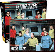 Star Trek- Cast on the Enterprise Bridge 1000 pc Jigsaw Puzzle
