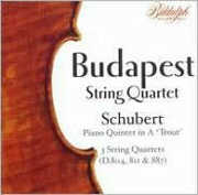 Budapest String Quartet Plays Schubert , Budapest String Quartet
