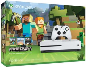 Microsoft Xbox One S 500GB Console: White - Minecraft Bundle
