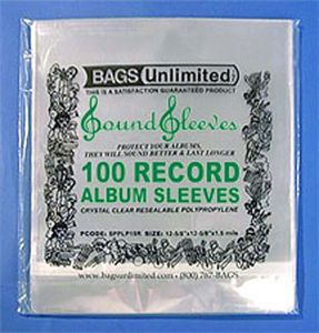 "SLPS3R 12"" Poly Reseal.Album SLVS-100 CT(3 Mil)"