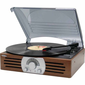 Jensen JTA-222 3-Speed Turntable (AM/ FM Receiver)