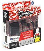 Wicked WIBTR60 Reach Bluetooth Receiver w/ Earbud with Mic Black