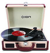 ION IT45DXC Vinyl Motion Deluxe Cream Suitcase Turntable