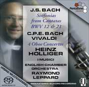 Sinfonias from Cantatas BWV 12 & 21 /  4 Oboe Ctos , Raymond Leppard