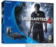 Sony PlayStation 4 Slim 500GB Console: Black - Uncharted 4 Bundle