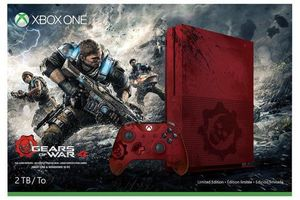 Microsoft Xbox One S 2TB Console: Red - Gears of War 4  Limited Edition + Extra Controller Bundle