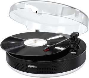 Jensen JTA-455 Bluetooth 3-Speed Stereo Turntable with Metal Tone Arm