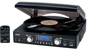 Jensen JTA-460 Turntable (USB, AM/ FM Receiver)