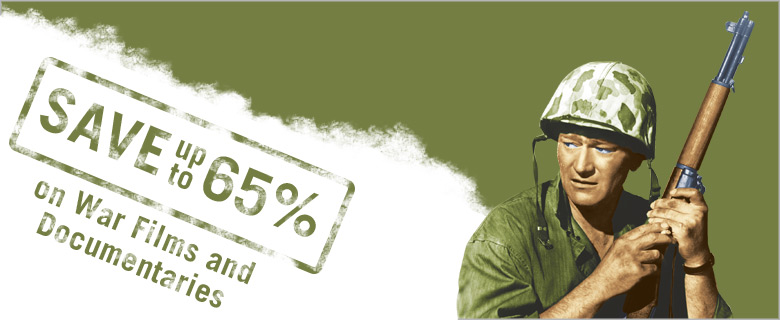 Save up to 65% on War Films and Documentaries