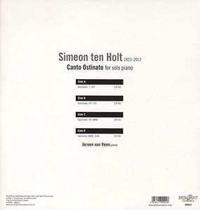 Ten Holt: Canto Ostinato for Solo Piano