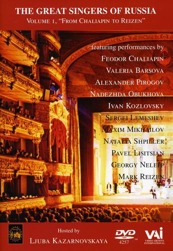 Great Singers of Russia 1 Chalapin to Reizen /  Various