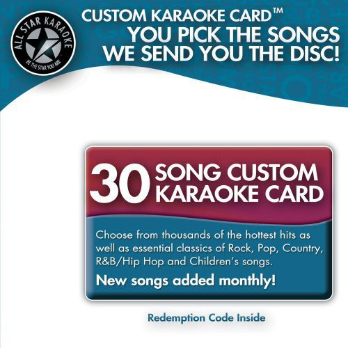 Karaoke: 30 Song Custom Karaoke Card /  Various