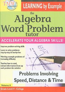 Algebra Word Problem Tutor: Speed Distance & Time