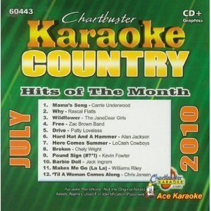 Karaoke: Country Hits of Month-March 2010