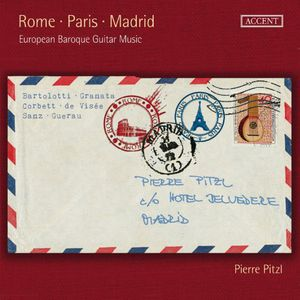 Rome Paris Madrid European Baroque Guitar Music