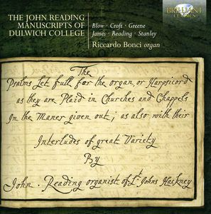 John Reading Manuscripts of Dulwich College