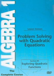 Problem Solving Quadratic Functions