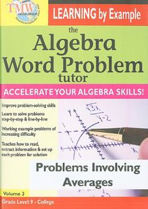 Algebra Word Problem Tutor: Problems Involving