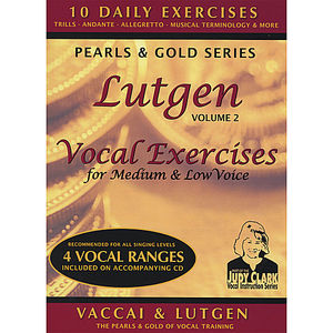 Vol. 2-Lutgen Vocalexercise: For Medium Low & Mezz