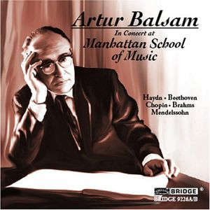 Artur Balsam in Concert at Manhattan School of Music