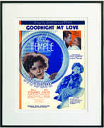 Goodnight My Love Framed Sheet Music