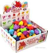 Happy Organ Eraser Display Box: 120 Erasers