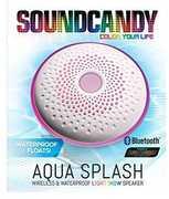 Sound Candy SC3013WHBBT Aqua Splash Waterproof Bluetooth Speaker White
