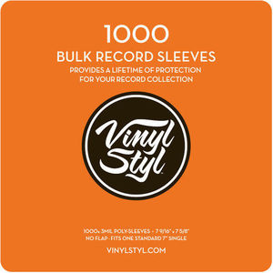 "Vinyl Styl™ 7 9/ 16"" X 7 5/ 8"" 3 Mil Protective Outer Record Sleeve 1000CT Bulk Pack"