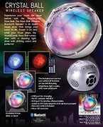 Sound Candy SC3000BKBBT Crystal Ball Bluetooth LightShow Speaker Black