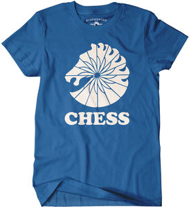 Bluescentric Chess Records Blue Classic Heavy Cotton T-Shirt (Medium)