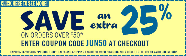 Enter Coupon Code: JUN50 to save an extra 25%
