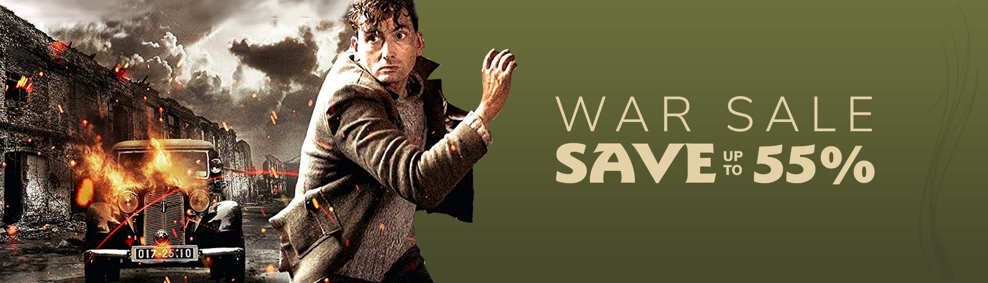 War Sale, save up to 55%