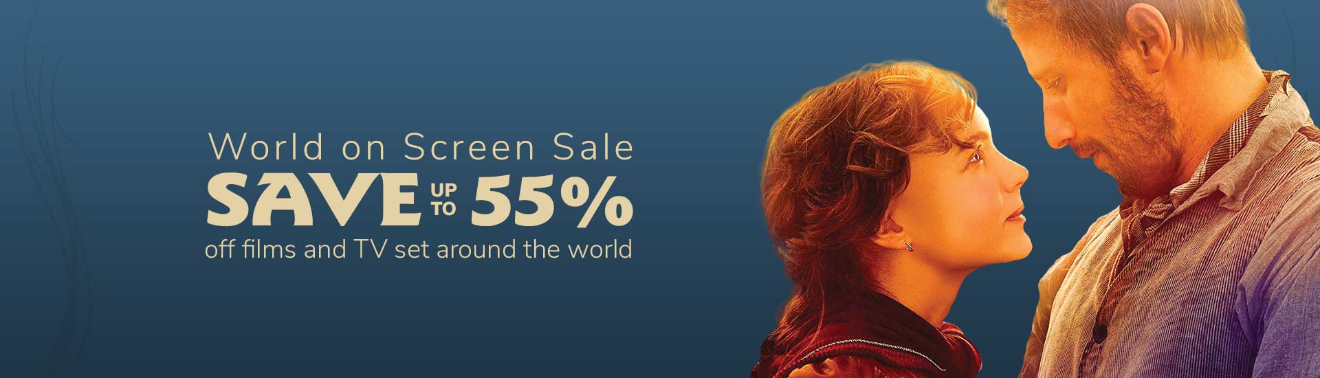 Save up to 55% on Films & TV set around the world!