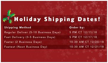 Holiday Shipping Chart