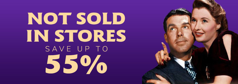 Save up to 55% on Film & TV Not Sold in Stores!