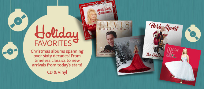 Holiday Favorites on CD & Vinyl!