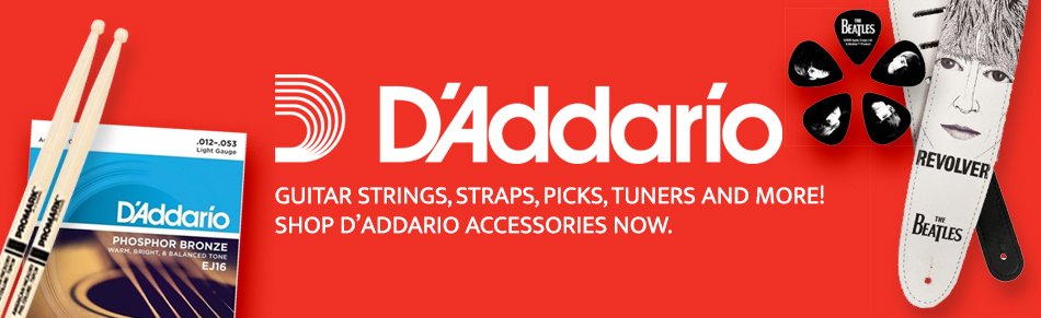 D'Addario Strings, Straps, Picks, Tuners and more!