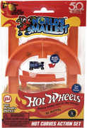 World's Smallest: Hot Wheels Mini World Curve & Jump Set (Includes 1 Car)