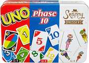 Mattel Games - Collector Bundle Tin Card Game - UNO/ Phase 10/ Snappy Dressers