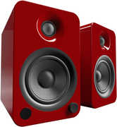 Kanto YU4 Powered Speakers with Bluetooth™ and Phono Preamp - Pair, Gloss Red