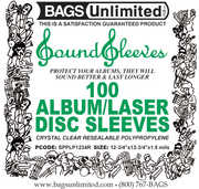 """Bags Unlimited SPPLP1234R 12""""Loose Fit Resealable Poly Sleeves-100ct"""