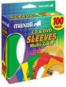 Maxell 190132 Multi-Color CD/ DVD Sleeves 100 Pack
