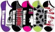 Walking Dead Socks Ladies 5 Pair Low Cut PK
