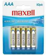 Maxell 723810 Alkaline Battery AAA Cell 10 Pack
